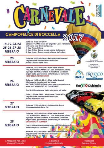 Carnevale 2017 a Campofelice di Roccella