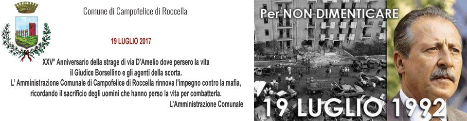 Anniversario della strage Borsellino